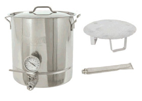 16 Gal. Brew Kettle Set, Stainless, 64 Qt. NJ #800-416