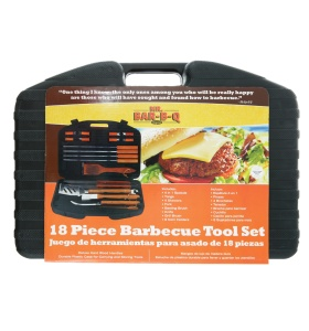 18 Pc. BBQ Tool Set With Plastic Case  NJ #94001X