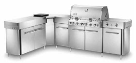 Summit Grill Center Stainless Steel NG with Social Area NJ #298001
