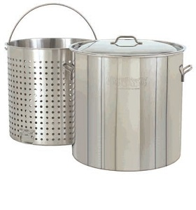 82-Qt. Stockpot, Lid, Bskt w/ helper handle NJ #1182