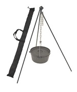 Tripod Stand with Chain & Tote Bag - Bayou Classic Accessories For BBQ Grills NJ item 786