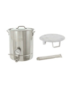 8-Gal. Brew Kettle Set, Stainless 32-Qt. - Bayou Classic Accessories For BBQ Grills NJ item 89