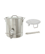 10-Gal. Brew Kettle Set, Stainless, 40 Qt. - Bayou Classic Accessories For BBQ Grills NJ item 90
