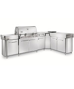 Summit Grill Center Stainless Steel LP with Social Area - Weber Gas BBQ Grills NJ item 611