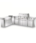 Summit Grill Center Stainless Steel LP with Social Area - Weber Gas BBQ Grills NJ item 615