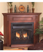 Corner Vent Free Fireplace - Vent Free Gas Fireplaces NJ item 1406